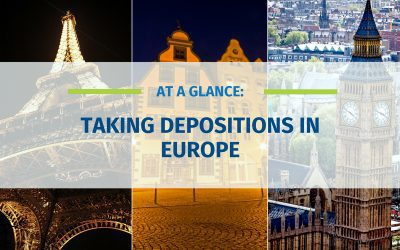 At A Glance: Taking Depositions in Europe