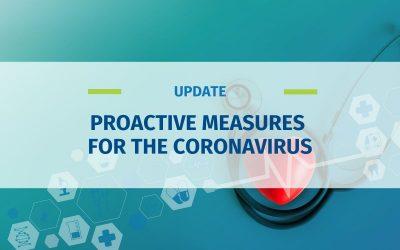 Proactive Measures for the Coronavirus