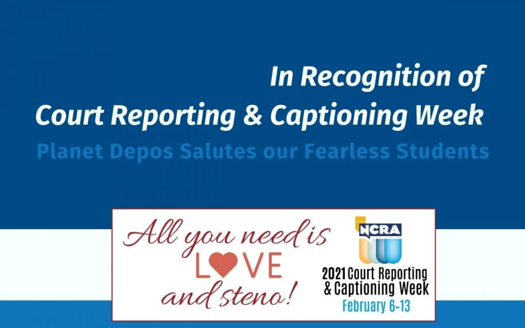 CRCW 2021: Planet Depos Salutes Our Fearless Students
