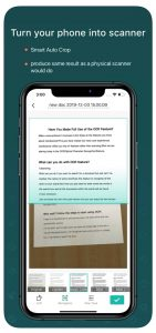 CamScanner allows you to create PDFs through your phone