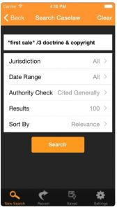 Fastcase is a free legal research app